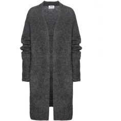 Acne Studios Raya Wool and Mohair-Blend Cardigan ($385) ❤ liked on Polyvore featuring tops, cardigans, gray wool cardigan, grey wool cardigan, wool cardigan, cardigan top e grey cardigan