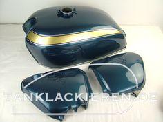 Honda cb 750 k2 planet blue metallic Honda Cb 500, Honda Cbx, Cx 500, Color Shades, Blue Green, Motorcycle, Colours, Bart Simpson, Ideas Para