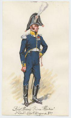 Ufficiale del 1 rgt. di fanteria di linea del Gran Ducato di Assia, 1808
