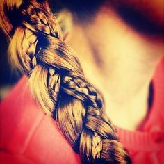 In order to enhance the simple braid, split the hair into three pieces and take a small section from one of the pieces. Braid it separately, and then braid the three main pieces so the small braid is showing.
