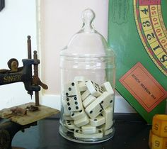 Cuban domino centerpieces