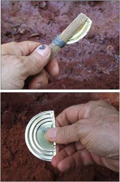 Survival Tools: Uses for a Tin Can. Tutorials on how to make cutting tool. - Survival Tools: Uses for a Tin Can. Tutorials on how to make cutting tool. Survival Gear and Preppi - Survival Life Hacks, Survival Food, Camping Survival, Outdoor Survival, Survival Prepping, Survival Skills, Survival Quotes, Survival Stuff, Zombies Survival