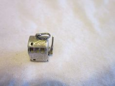 Vintage Slot Machine Charm Works Great Sterling Silver Too Much Fun