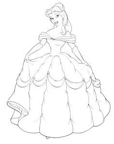 imagenes para colorear de princesas