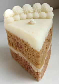 Egg Nog Cake Candle - Cake Slice Candle in Egg Nog Scent