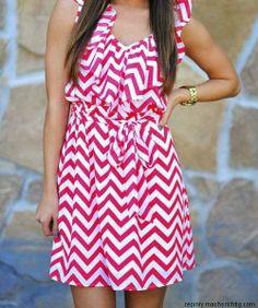 Ruffle chevron dress