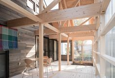 Taking full advantage of the summer sun, this residence in Japan stays warm without the need for supplemental heating thanks to a greenhouse-like sun terrace. Yoshichika Takagi architects designed the minimalist two-story house in Sapporo with an exposed timber frame, economical plywood walls an ...
