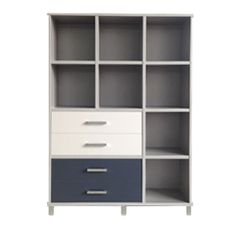 URBAN 12 cube (Silver Haze), Top Drawers (Titanium) Bottom Drawers (Char Blue)