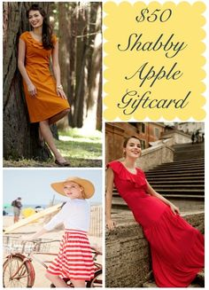 $50 Shabby Apple Gift Card giveaway with Breanna @ My Beautiful, Crazy Life! :-) Go and enter now!