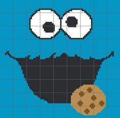 Cookie Monster Crochet Graph/Chart Pattern