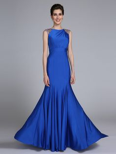 2017 Lanting Bride® Trumpet / Mermaid Mother of the Bride Dress - Elegant Floor-length Sleeveless Jersey with Crystal Detailing - CHF ₣129.59 ! HOT Product! A hot product at an incredible low price is now on sale! Come check it out along with other items like this. Get great discounts, earn Rewards and much more each time you shop with us!