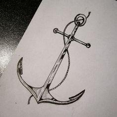 Resultado de imagen para blackwork anchor tattoo