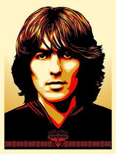 George Harrison by Shepard Fairey