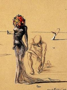 Salvador Dali's, The Woman with a Head of Flowers. This would be a neat tattoo.