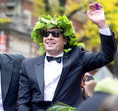 Jimmy Fallon Injures Hand During Harvard Lampoon Award Celebration - Us Weekly
