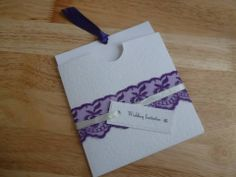 Wallet style invitation. Day invitations £1.75, comes with direction card and RSVP card. Gift poem cards can be added for an additional £0.50  www.facebook.com/designedwithlove2012