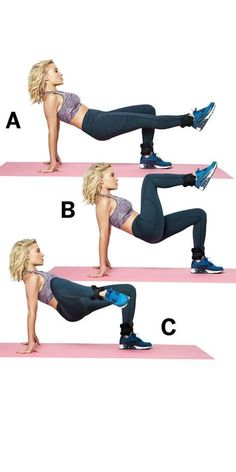 Alternating knee pulls - Follow these five moves to get your legs slim, toned, and super sexy. | Health.com