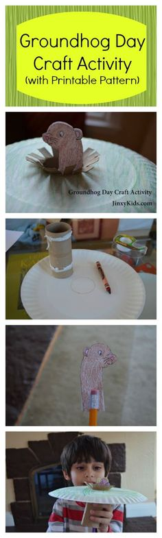 Groundhog Day Craft Activity with Printable ... | Holiday {Craft~Food…