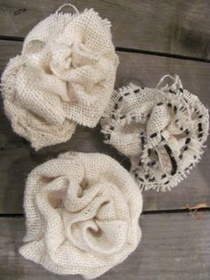burlap flowers for trimming....
