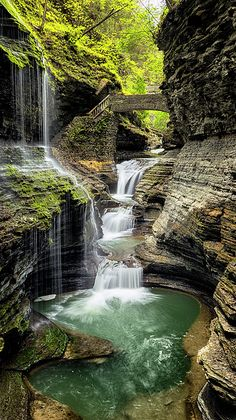 Rainbow Falls, Watkins Glen State Park, New York, USA