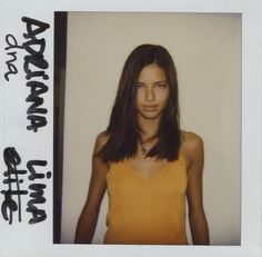 Adriana Lima first vogue casting picture
