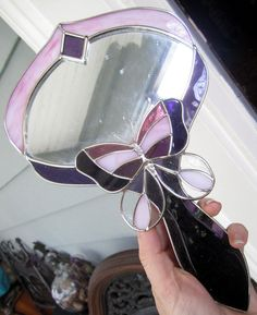 Vintage Stained Glass Purple Butterfly Hand Mirror. $45.00, via Etsy.