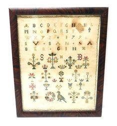 SAMPLERS: Two late 18th and 19th C. British signed school gi