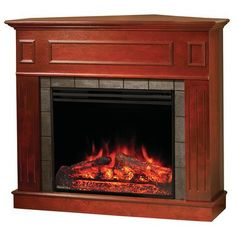 Electric Fireplaces Thermostats And Fireplaces On Pinterest