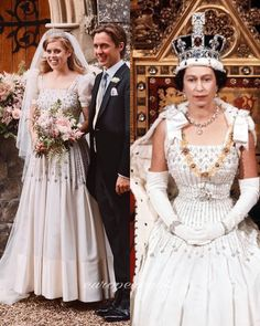 Princess Beatrice Wedding, Princess Eugenie And Beatrice, Royal Wedding Gowns, Royal Weddings, Royal Family Pictures, Norman Hartnell, Sarah Duchess Of York, All The Princesses, Royal Royal