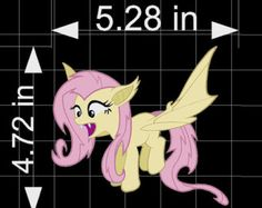 Fluttershy Flutterbat fan art, Decal - MLP FIM  Cute Decal Sticker for Cars or laptops by makemygraphic. Explore more products on http://makemygraphic.etsy.com