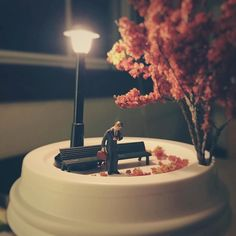 Sometimes I get stood up on calls with prospective employers but I wait by the phone. And wait. And wait.  #miniature #waiting #patientlywaiting #streetlight #ミニチュア #miniatur #fall #noshow #park #FigurativelySpeaking # by marsder