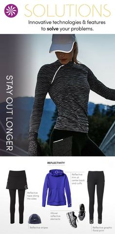 Reflective clothing for outdoor workouts: clever reflective details catch the light, making it great for late-night or early morning workouts.