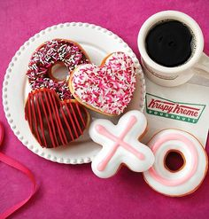 This Valentine's Day, be sweet to someone special with a box full of hugs and kisses, and heart-shaped deliciousness from Krispy Kreme available now until Friday, Feb. 14.
