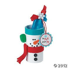 Snowman Treat Box Holder