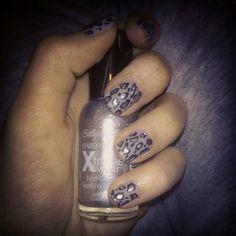 Panterkowe paznokcie.    Nails, panther, nail art