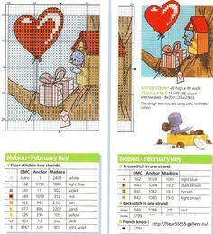 Birthday Card for Hilary 2012 Nelson & Tibs February by Adam Pescott Nelson's World Stitcher's Diary