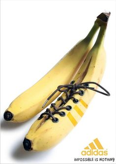 """I call it: 'Running in Bananas' (from Adidas' ad campaign: """"Impossible Is Nothing"""") Creative Advertising, Ads Creative, Print Advertising, Advertising Campaign, Print Ads, Marketing And Advertising, Creative Design, Advertising Ideas, Advertisement Examples"""