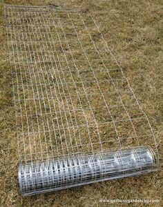 Garden trellis support  Fencing cut into 10' lengths. Love it.  Saved the pin with the pvc pipe also for squash and heavier plants.