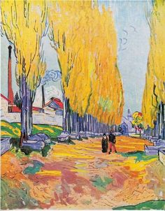 """Les Alyscamps, Avenue in Arles Vincent van Gogh - 1888"""