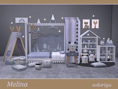 The Sims Resource: Melina kidsroom by Soloriya • Sims 4 Downloads