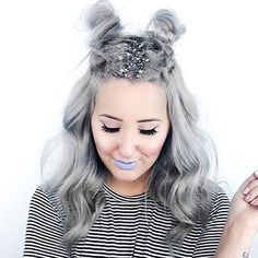 Silver Space Alien - Step Up Your Sparkle Game With Glitter Roots - Photos