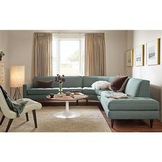 Reese Curved Sectional Living Room Mid Century Modern Couches
