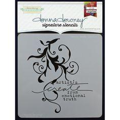 Donna Downey Signature Stencils 8.5x8.5inch - Create Truth