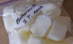 Save Money by Freezing Buttermilk!
