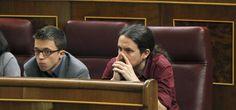 Errejón e Iglesias en el Congreso de los Diputados. (EFE)
