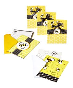 Look at this Buzz Baby Shower Invitation & Thank You Note Set on #zulily today!