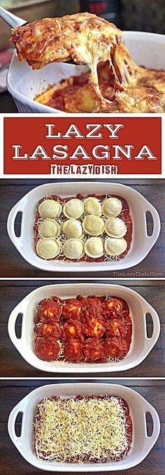 Lazy Lasagna (Just 3 Ingredients!) - The Lazy Dish 3 Zutaten gebackene Ra., Lazy Lasagna (Just 3 Ingredients!) - The Lazy Dish 3 Zutaten gebackene Ra. Lazy Lasagna (Just 3 Ingredients!) - The Lazy Dish 3 Zutaten gebackene Ra. Quick Meals To Make, Food To Make, Easy Meals For Dinner, Simple Easy Dinner Recipes, One Dish Dinners, Cook Dinner, Roast Dinner, Easy Meals For Kids, Dinner Dishes