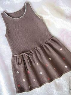 """Сарафан """"Горошинка"""" - вязаное платье,платье для девочки,вязаный сарафан [] #"""