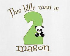 Panda Birthday Shirt , Personalized Birthday Shirt, Personaluzed Birthday Shirt, Funny Bday Shirt, Boys Birthday, Kids Personalized Shirt