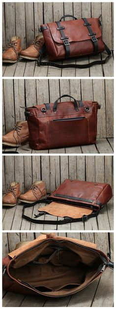 Handmade Men's Messenger Bag Top Grain Leather Travel Bag Crossbody Bag Leather Shoulder Bag 9000